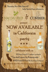 Macchu Pisco & Combier Launch Party in San Francisco